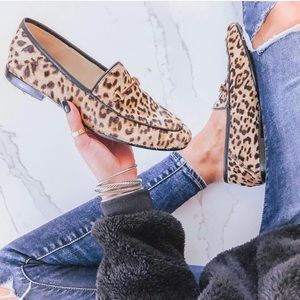 Sam Edelman Leopard Print Calf Hair Loafer